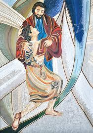 Representação do regresso do filho pródigo em Lc 11, 15-32.
