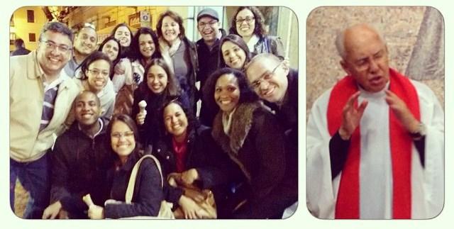 Membros da comunidade Canção Nova festejam saudação do Papa Francisco / Foto Ana Paula Meneses CN