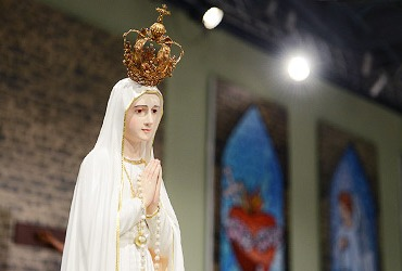 Visita da imagem de Nossa Senhora de Fatima a Canção Nova