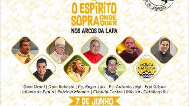 Canção Nova Rio promove evento de Pentecostes nos Arcos da Lapa