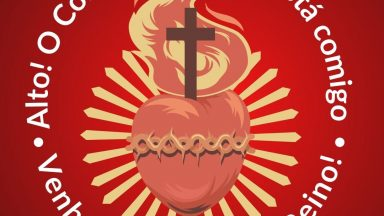 """Mês de junho: Chamados a aprofundarmos nossa devoção ao Sagrado Coração de Jesus rezando a oração do """"Escudo do Sagrado Coração de Jesus""""."""