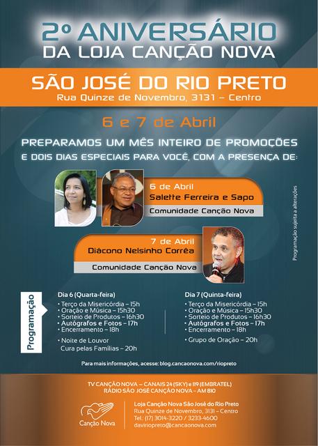 Aniversário Loja Canção Nova - Rio Preto
