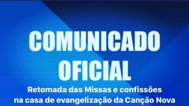 Comunicado Santa Missa - Canção Nova SJC