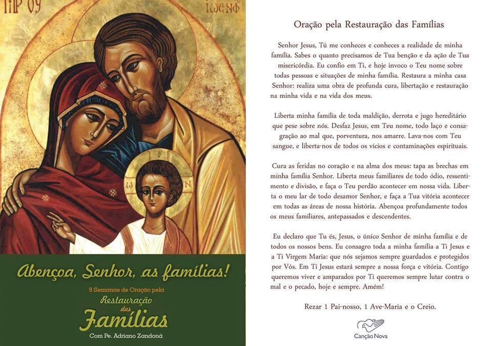 9 semanas de oração pela restauração das famílias