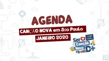 Canção Nova em São Paulo programação de janeiro