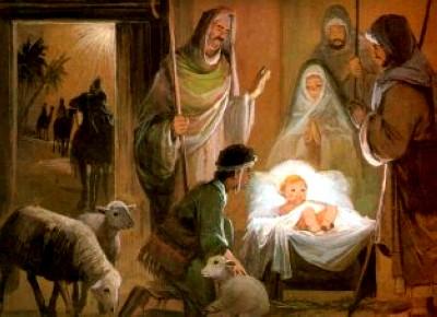 foto do presépio Jose Maria e o menino Jesus