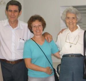 Casal Vera e Braulino com a Ir. Martha Bhering - Presidente honorária da CENPLAFAM
