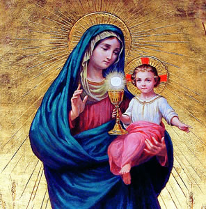 Maria tem uma ligação exclusiva com o mistério eucarístico.