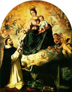 A principal arma espiritual dos cristãos consagrados a Virgem Maria é o rosário