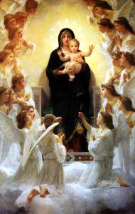 A participação da fé da Virgem Maria.