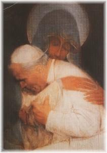 João Paulo II diz que a Virgem Maria ilumina a figura da mulher e da mãe.