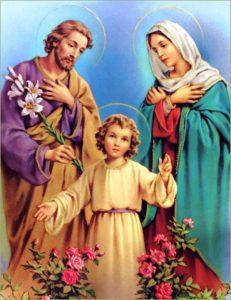 A Sagrada Família, Jesus, Maria e José, as famílias e o mundo atual