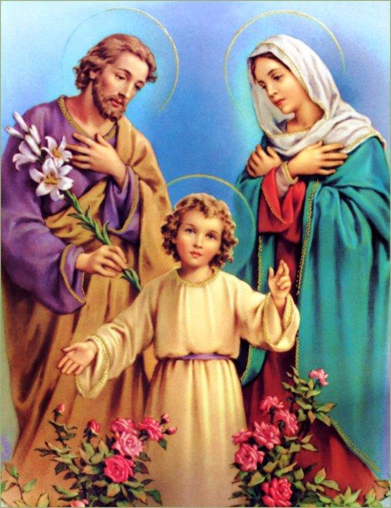 Resultado de imagem para fotos e imagens da família sagrada