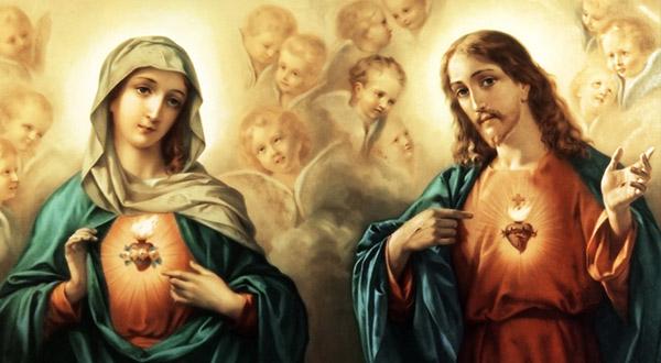 No sonho de Dom Bosco, a Eucaristia e a devoção a Nossa Senhora são duas colunas que sustentam a Igreja, muito unidas à devoção aos Sagrados Corações de Jesus e Maria.
