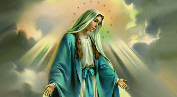 A Virgem Maria, Medianeira de todas as graças, no mistério de Jesus Cristo e da Santa Igreja Católica.