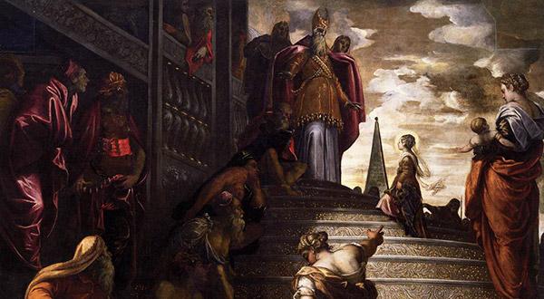 A celeste menina Maria, que se apresenta no Templo, é modelo por excelência de consagração, de entrega total a Deus.