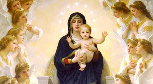 No início do tempo Pascal, meditemos sobre a presença da Rainha do Céu e dos Santos Anjos no mistério da redenção da humanidade.