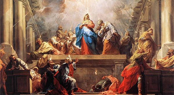 Meditemos sobre a presença da Virgem Maria nos três Pentecostes, que dizem respeito a mistérios da vida de Jesus Cristo.