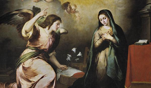 Meditemos sobre a oração de Jesus Cristo e a vida de oração da Virgem Maria antes e no momento da Anunciação do mistério da Encarnação.