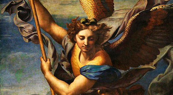 """Rezemos a Quaresma de São Miguel Arcanjo e a oração a Nossa Senhora intitulada """"Augusta Rainha dos Céus""""."""