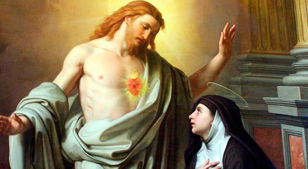 Aparição do Sagrado Coração de Jesus a Santa Margarida.