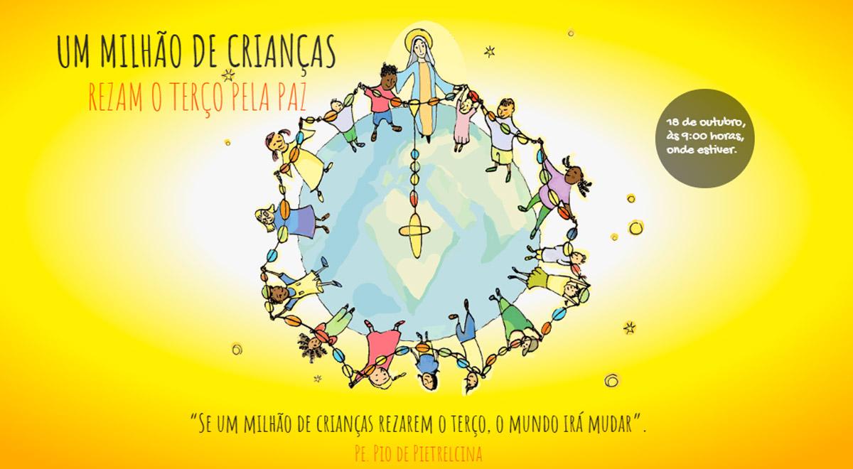 A Ajuda à Igreja que Sofre pede a nossa ajuda com o objetivo de reunir um milhão de crianças ao redor do mundo, no próximo dia 18 de outubro, rezando o Terço pela paz.